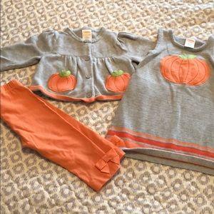 Girls pumpkin set